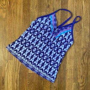 Athleta Amalfi Blue Belize Tankini Swim Top